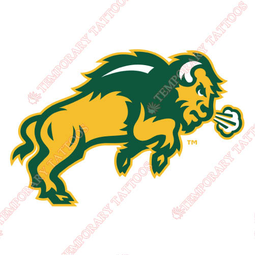 North Dakota State Bison Customize Temporary Tattoos Stickers NO.5610
