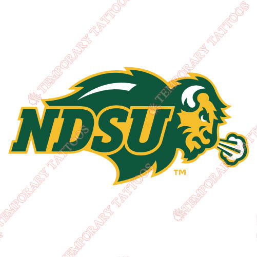 North Dakota State Bison Customize Temporary Tattoos Stickers NO.5611