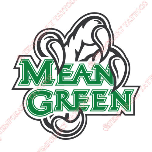 North Texas Mean Green Customize Temporary Tattoos Stickers NO.5612