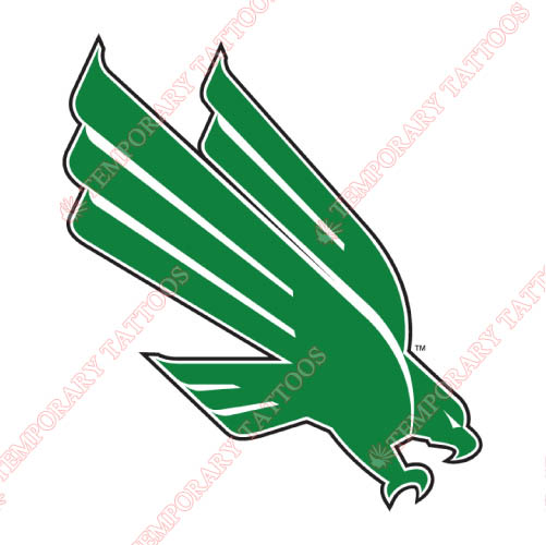 North Texas Mean Green Customize Temporary Tattoos Stickers NO.5615