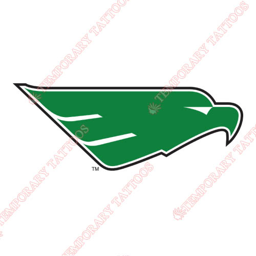 North Texas Mean Green Customize Temporary Tattoos Stickers NO.5617
