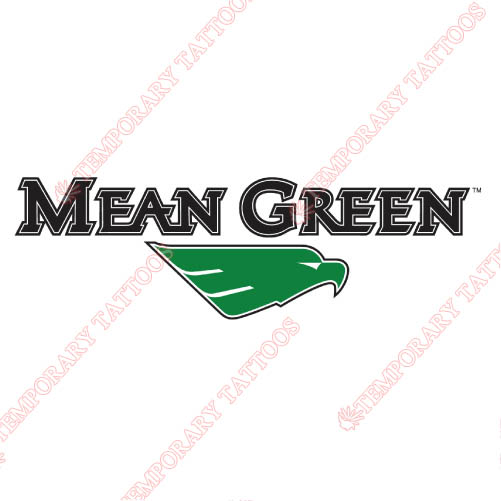 North Texas Mean Green Customize Temporary Tattoos Stickers NO.5618