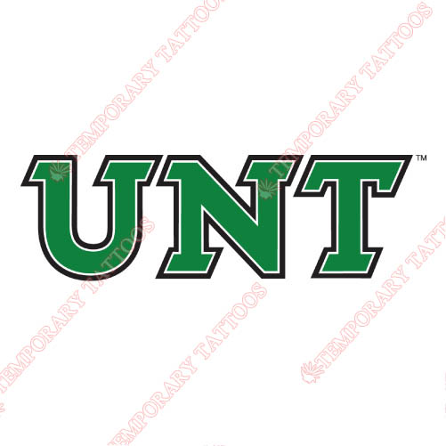 North Texas Mean Green Customize Temporary Tattoos Stickers NO.5619