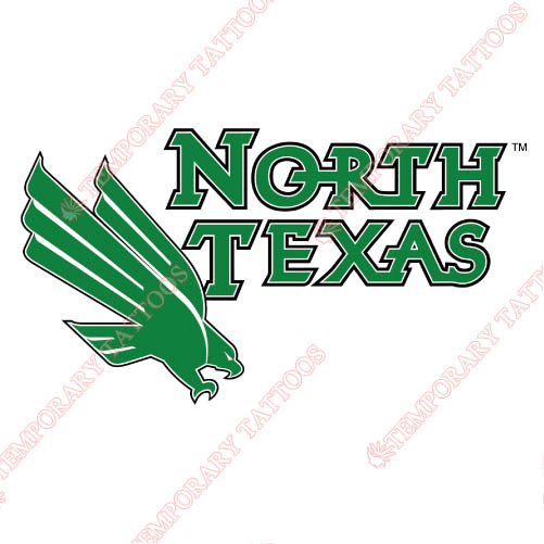 North Texas Mean Green Customize Temporary Tattoos Stickers NO.5620