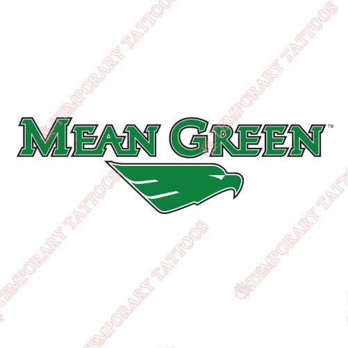North Texas Mean Green Customize Temporary Tattoos Stickers NO.5621