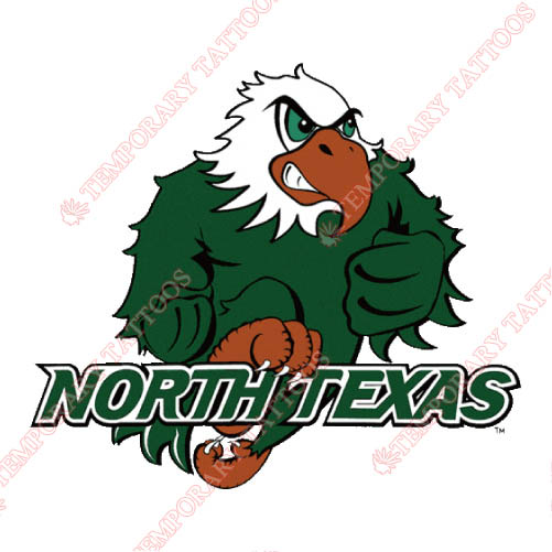 North Texas Mean Green Customize Temporary Tattoos Stickers NO.5625