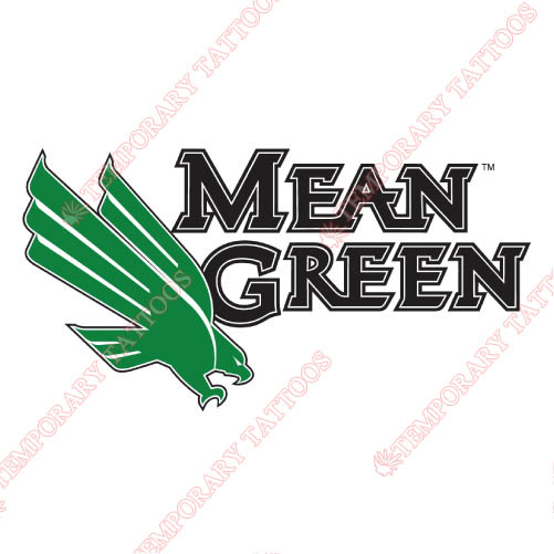 North Texas Mean Green Customize Temporary Tattoos Stickers NO.5626