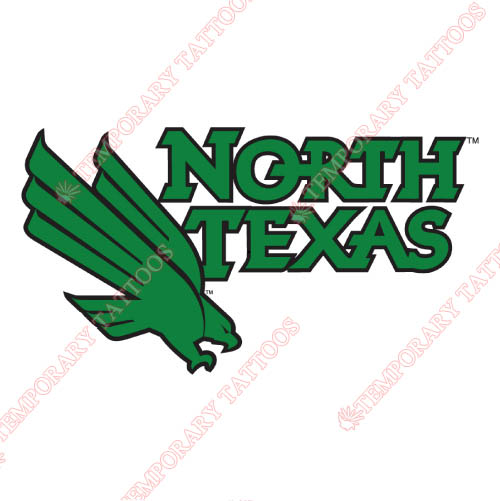 North Texas Mean Green Customize Temporary Tattoos Stickers NO.5627