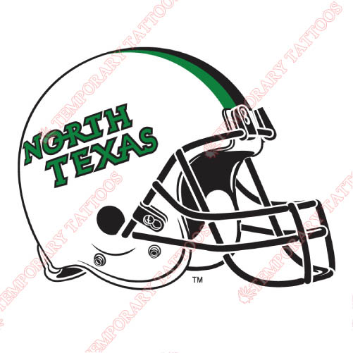 North Texas Mean Green Customize Temporary Tattoos Stickers NO.5628