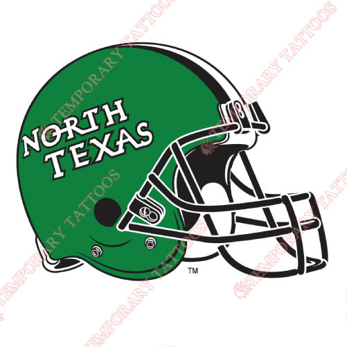 North Texas Mean Green Customize Temporary Tattoos Stickers NO.5629
