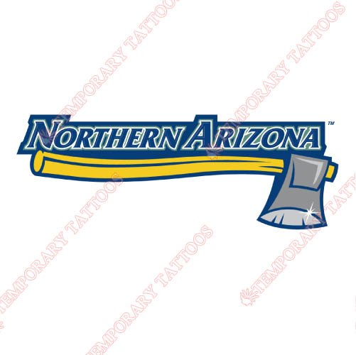 Northern Arizona Lumberjacks Customize Temporary Tattoos Stickers NO.5642