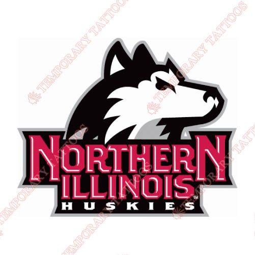 Northern Illinois Huskies Customize Temporary Tattoos Stickers NO.5666