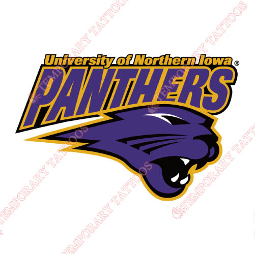 Northern Iowa Panthers Customize Temporary Tattoos Stickers NO.5669