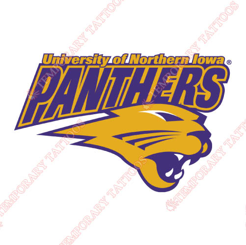 Northern Iowa Panthers Customize Temporary Tattoos Stickers NO.5672