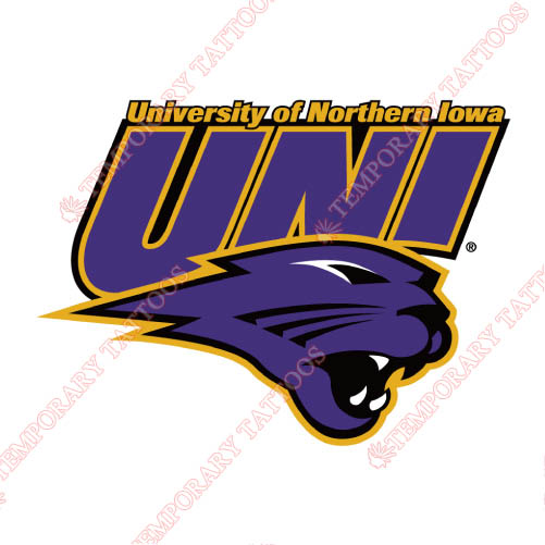 Northern Iowa Panthers Customize Temporary Tattoos Stickers NO.5675