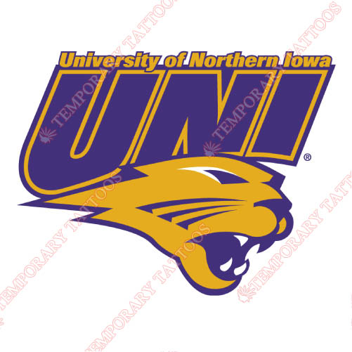 Northern Iowa Panthers Customize Temporary Tattoos Stickers NO.5677