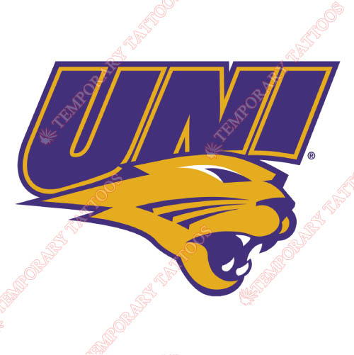 Northern Iowa Panthers Customize Temporary Tattoos Stickers NO.5678
