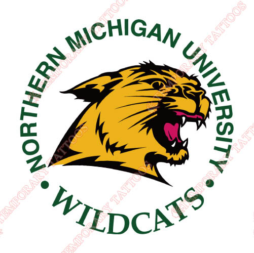Northern Michigan Wildcats Customize Temporary Tattoos Stickers NO.5691
