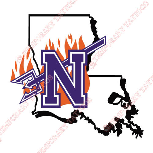 Northwestern State Demons Customize Temporary Tattoos Stickers NO.5693