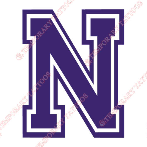 Northwestern State Demons Customize Temporary Tattoos Stickers NO.5694