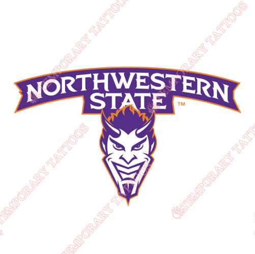 Northwestern State Demons Customize Temporary Tattoos Stickers NO.5695