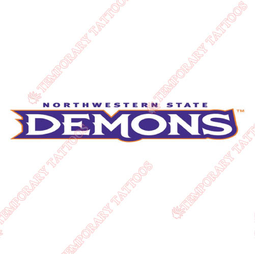 Northwestern State Demons Customize Temporary Tattoos Stickers NO.5696