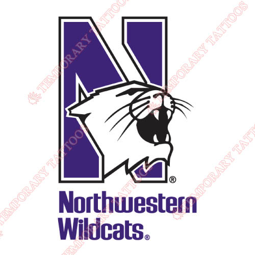 Northwestern Wildcats Customize Temporary Tattoos Stickers NO.5700