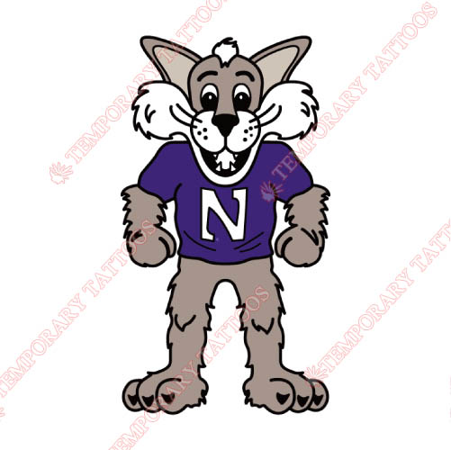 Northwestern Wildcats Customize Temporary Tattoos Stickers NO.5701