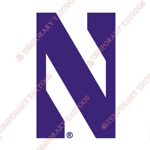 Northwestern Wildcats Customize Temporary Tattoos Stickers NO.5702