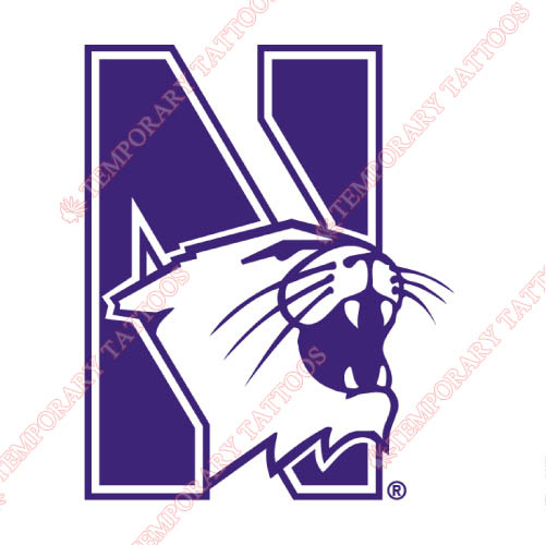 Northwestern Wildcats Customize Temporary Tattoos Stickers NO.5703