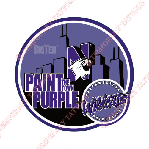 Northwestern Wildcats Customize Temporary Tattoos Stickers NO.5706