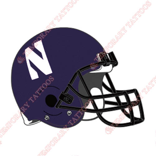 Northwestern Wildcats Customize Temporary Tattoos Stickers NO.5707