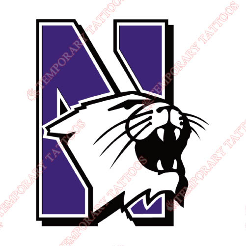 Northwestern Wildcats Customize Temporary Tattoos Stickers NO.5708