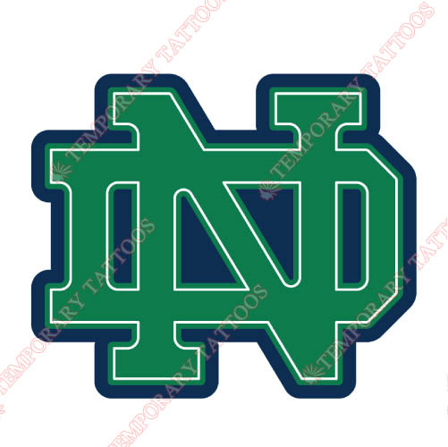 Notre Dame Fighting Irish Customize Temporary Tattoos Stickers NO.5710
