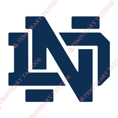 Notre Dame Fighting Irish Customize Temporary Tattoos Stickers NO.5711