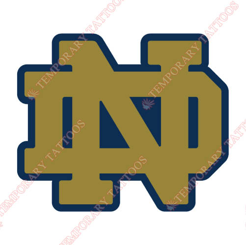 Notre Dame Fighting Irish Customize Temporary Tattoos Stickers NO.5712