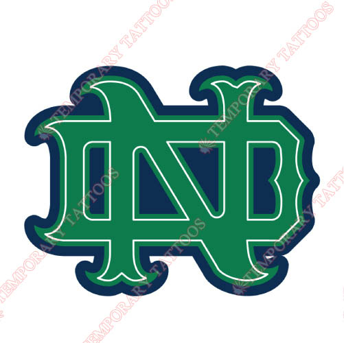 Notre Dame Fighting Irish Customize Temporary Tattoos Stickers NO.5713