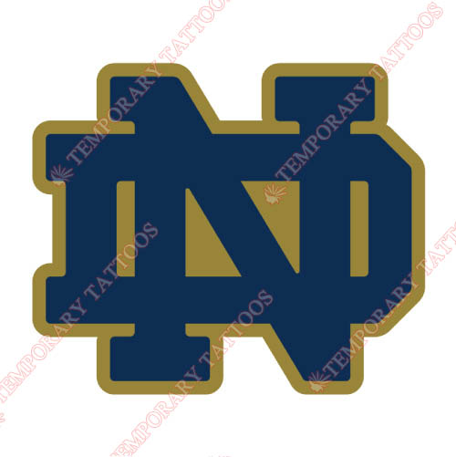 Notre Dame Fighting Irish Customize Temporary Tattoos Stickers NO.5714