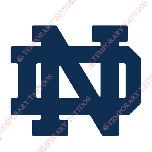 Notre Dame Fighting Irish Customize Temporary Tattoos Stickers NO.5715