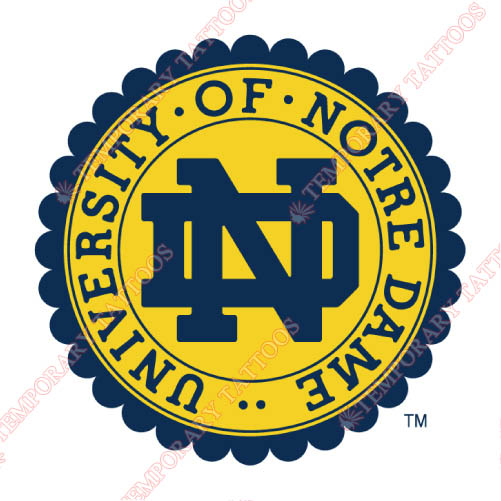 Notre Dame Fighting Irish Customize Temporary Tattoos Stickers NO.5716