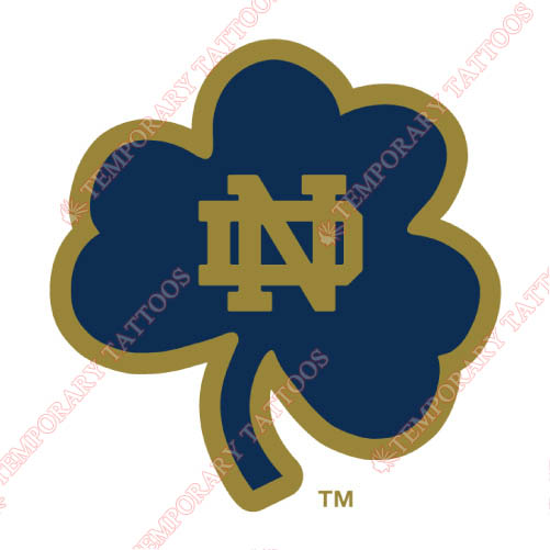 Notre Dame Fighting Irish Customize Temporary Tattoos Stickers NO.5717