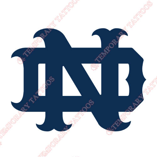 Notre Dame Fighting Irish Customize Temporary Tattoos Stickers NO.5719