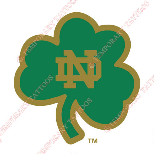 Notre Dame Fighting Irish Customize Temporary Tattoos Stickers NO.5720