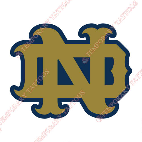 Notre Dame Fighting Irish Customize Temporary Tattoos Stickers NO.5721