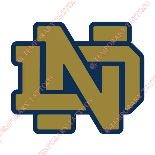 Notre Dame Fighting Irish Customize Temporary Tattoos Stickers NO.5722