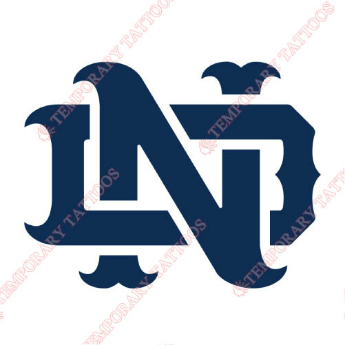 Notre Dame Fighting Irish Customize Temporary Tattoos Stickers NO.5723