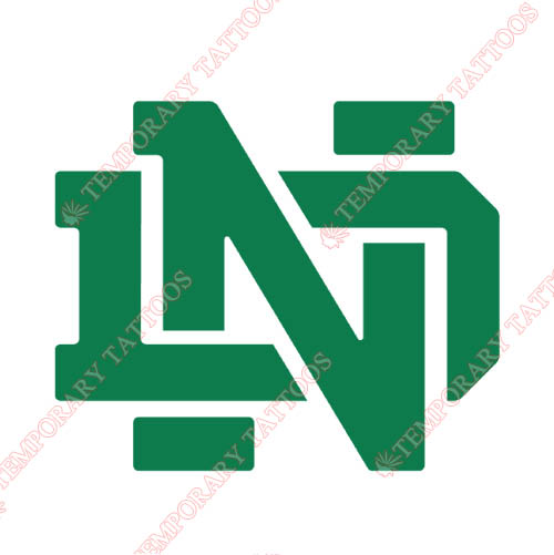 Notre Dame Fighting Irish Customize Temporary Tattoos Stickers NO.5724
