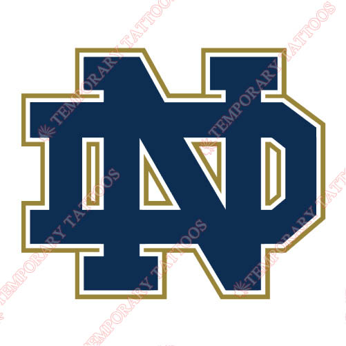 Notre Dame Fighting Irish Customize Temporary Tattoos Stickers NO.5725