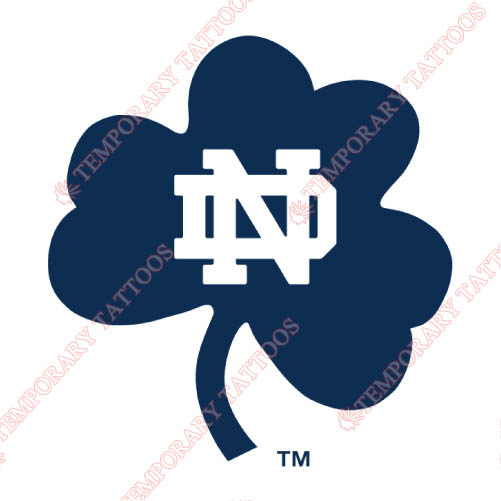 Notre Dame Fighting Irish Customize Temporary Tattoos Stickers NO.5727