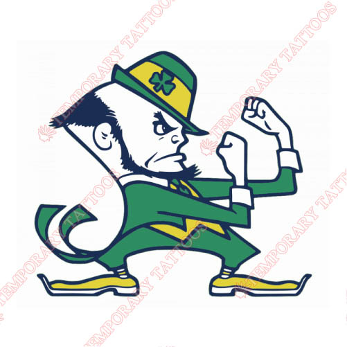 Notre Dame Fighting Irish Customize Temporary Tattoos Stickers NO.5728